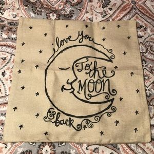'I love you to the moon & back' Throw Pillowcase